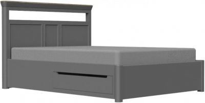 Pebble Slate Grey Painted 5ft King Size Storage Bed