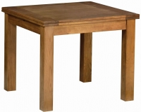 Devonshire Rustic Oak Square Flip Top Dining Table
