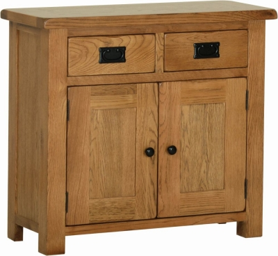 Rustic Oak 2 Door Small Sideboard