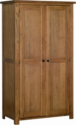 Devonshire Rustic Oak 2 Door Wardrobe