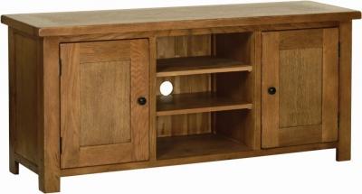 Rustic Oak Large TV Cabinet