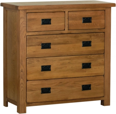 Rustic Oak 3 + 2 Drawer Chest