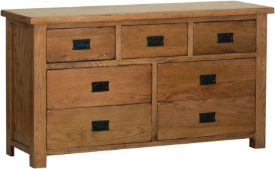 Rustic Oak 3 Over 4 Drawer Chest