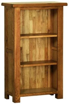 Devonshire Rustic Oak Bookcase - Small Narrow
