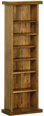 Rustic Oak CD DVD Rack