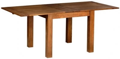 Devonshire Rustic Oak Dining Table - Flip Top Extending