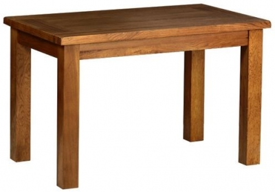 Devonshire Rustic Oak Dining Table - Small Fixed