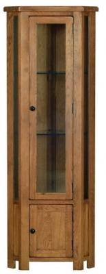 Devonshire Rustic Oak Display Cabinet - Corner