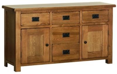 Devonshire Rustic Oak Dresser Base - Large
