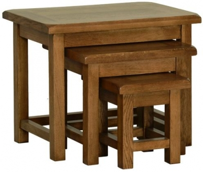 Devonshire Rustic Oak Nest of Table - Small