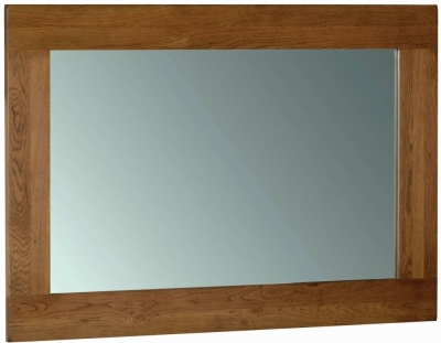 Devonshire Rustic Oak Rectangular Wall Mirror - 130cm x 90cm