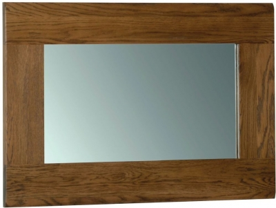 Devonshire Rustic Oak Rectangular Wall Mirror - 90cm x 60cm
