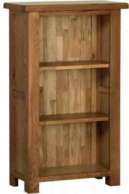 Devonshire Rustic Oak Small Narrow Bookcase