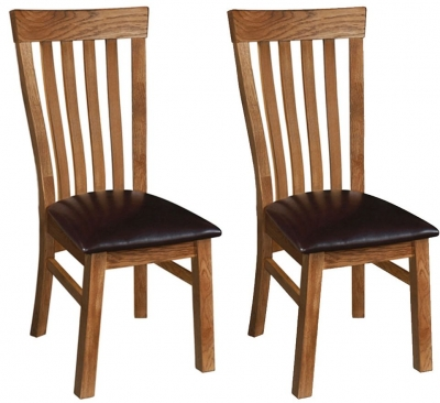 Rustic Oak Toulouse Dining Chair (Pair)