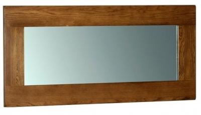 Devonshire Rustic Oak Wall Mirror - 130cm x 60cm