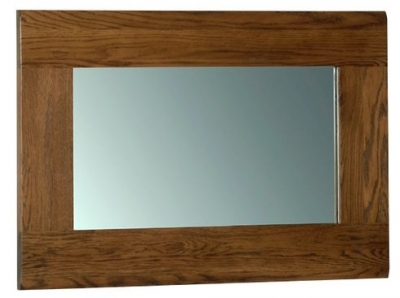 Devonshire Rustic Oak Wall Mirror - 90cm x 60cm