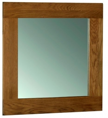 Buy devonshire rustic oak wall mirror 90cm x 90cm online for Miroir 90x90