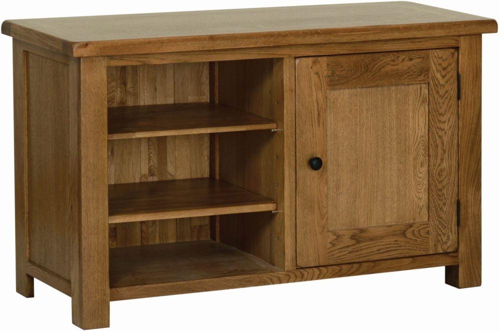 Devonshire Rustic Oak 1 Door Standard TV Cabinet
