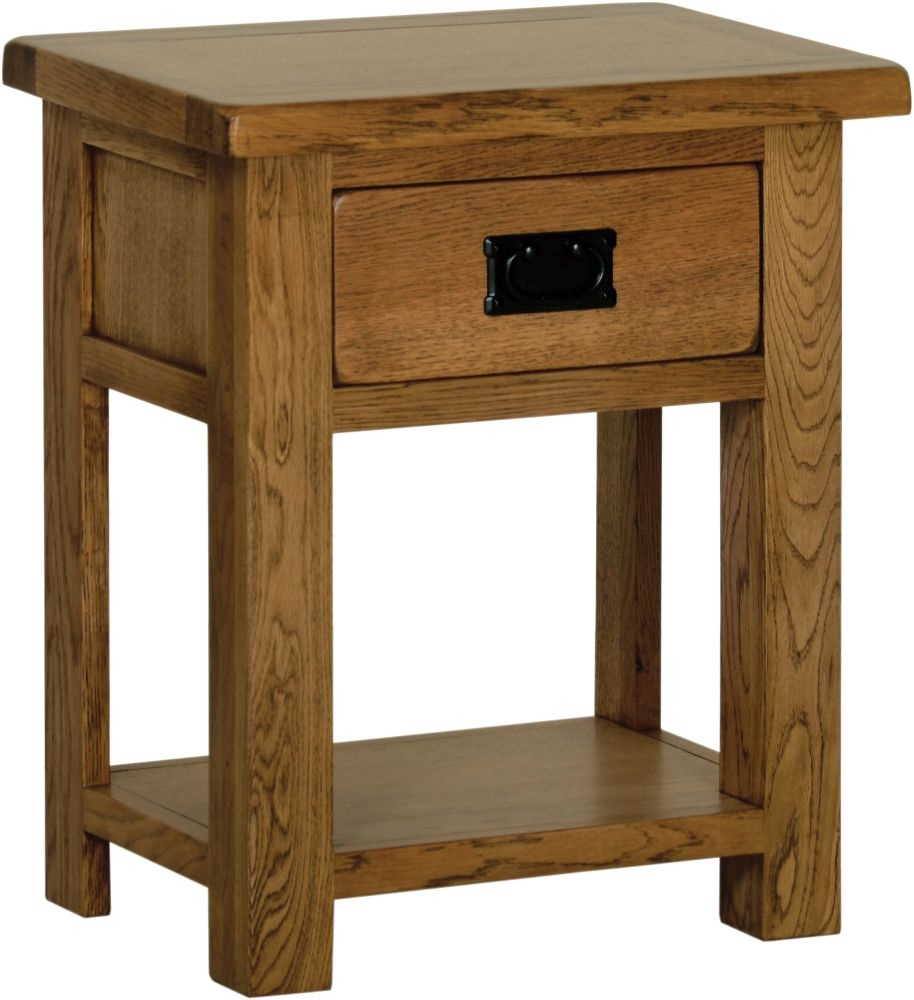 Devonshire Rustic Oak Bedside Table