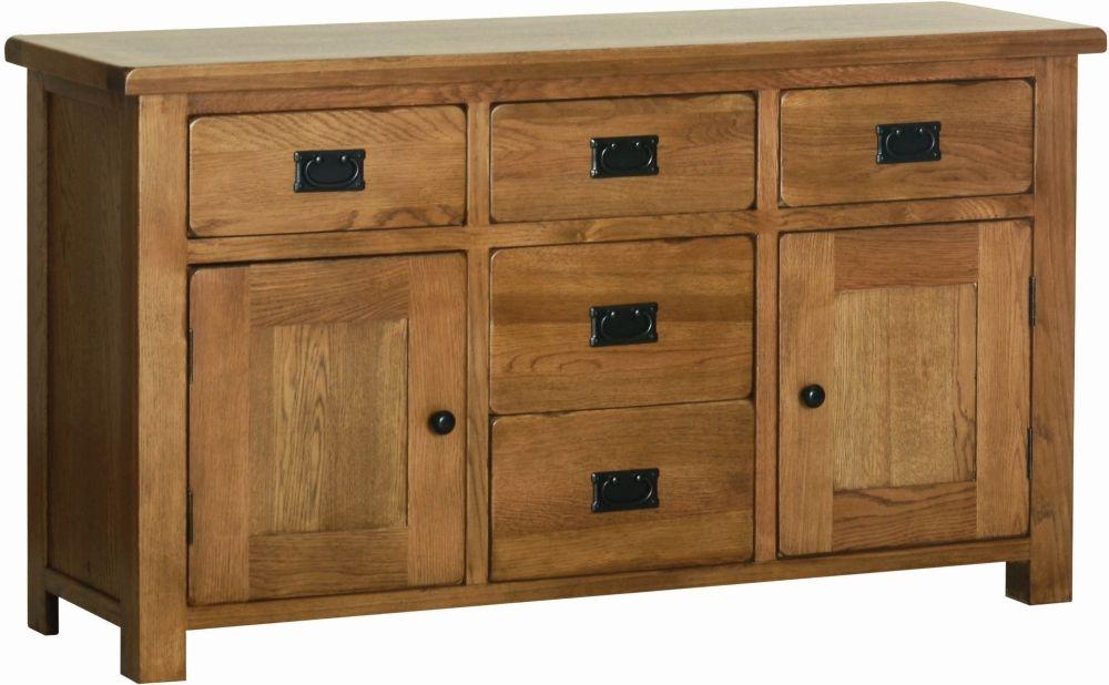 Devonshire Rustic Oak Wide Sideboard
