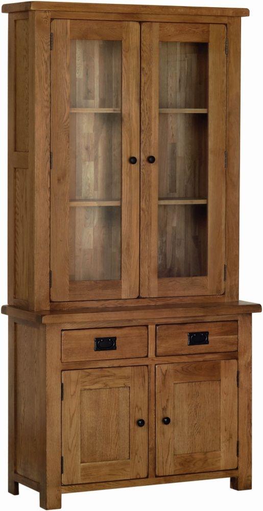Devonshire Rustic Oak Glass Dresser Top
