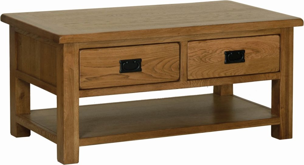 Devonshire Rustic Oak Storage Coffee Table