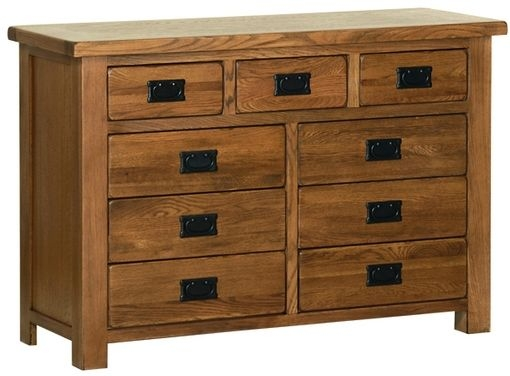 Devonshire Rustic Oak 3+6 Drawer Chest