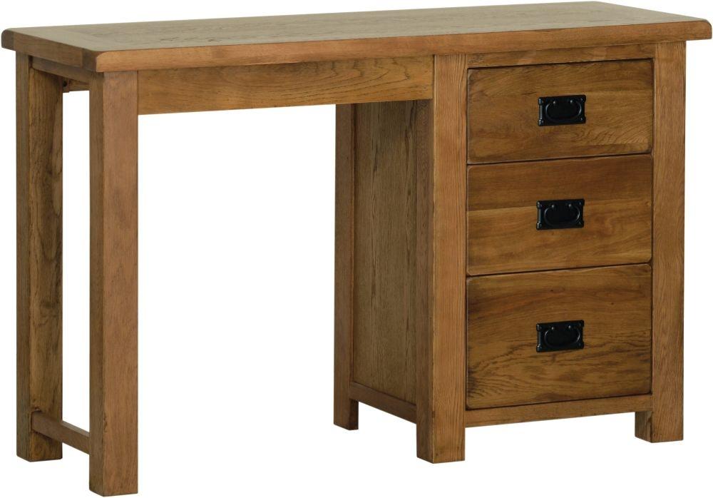 Devonshire Rustic Oak Single Pedestal Dressing Table