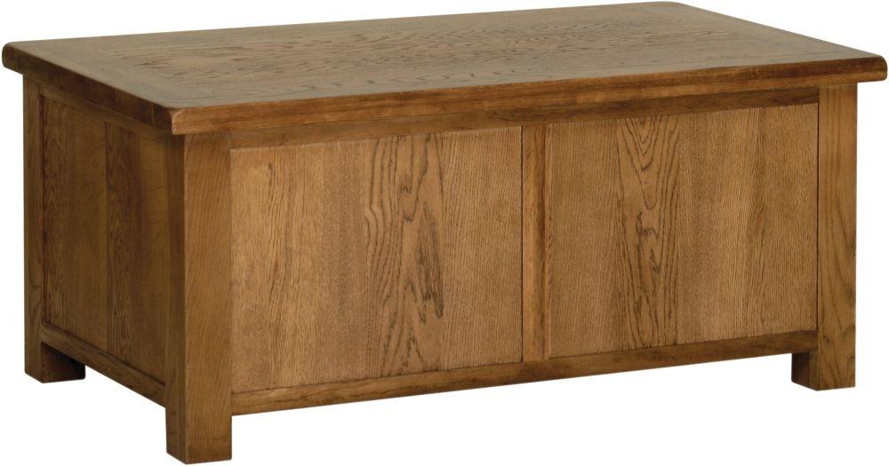 Devonshire Rustic Oak Large Blanket Box