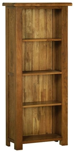 Devonshire Rustic Oak Bookcase - Medium Narrow