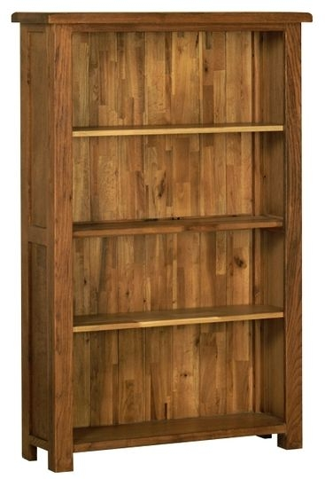 Devonshire Rustic Oak Bookcase - Medium