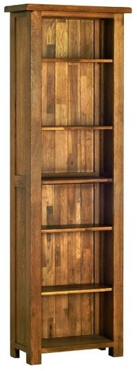Devonshire Rustic Oak Tall Narrow Bookcase