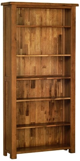 Devonshire Rustic Oak Bookcase - Tall