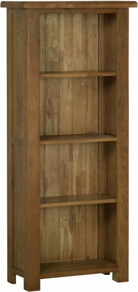 Devonshire Rustic Oak Medium Narrow Bookcase