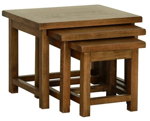 Devonshire Rustic Oak Nest of Tables
