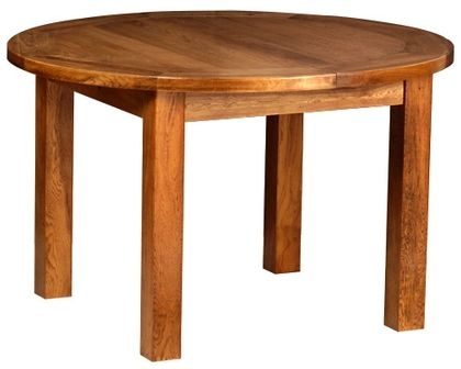 Devonshire Rustic Oak Round Extending Dining Table