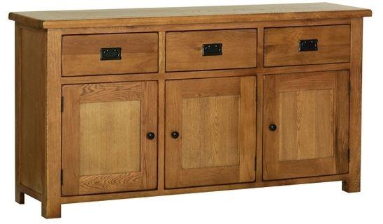 Devonshire Rustic Oak Sideboard - Large