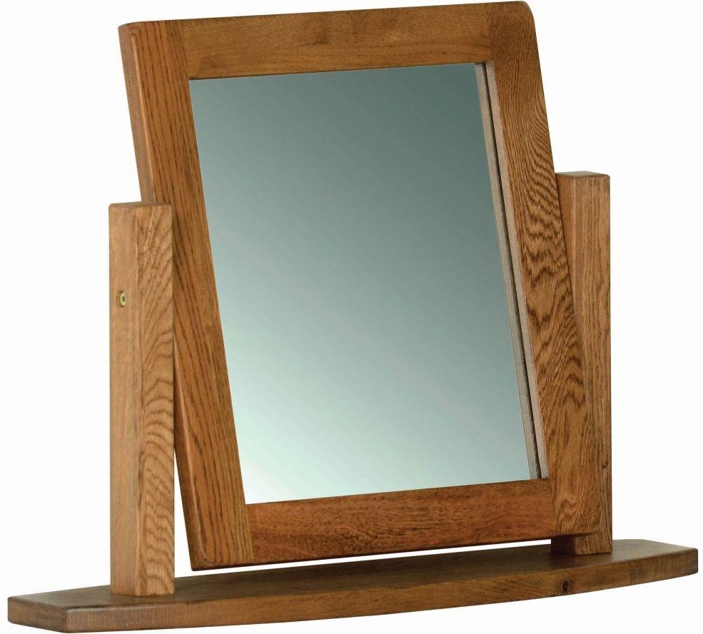 Rustic Oak Dressing Table Mirror