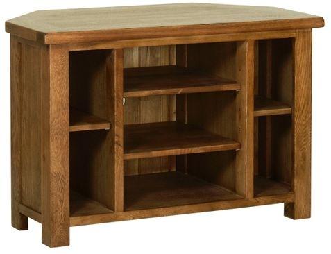 Devonshire Rustic Oak TV Cabinet - Corner
