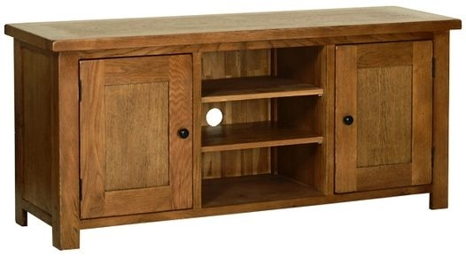 Devonshire Rustic Oak TV Cabinet - Large 2 Door