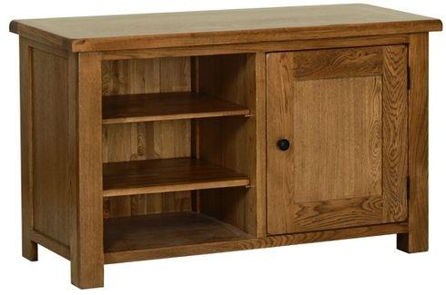 Devonshire Rustic Oak TV Cabinet - Standard 1 Door