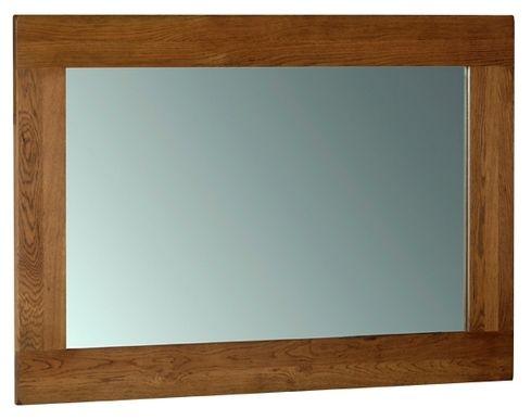 Devonshire Rustic Oak Wall Mirror - 130cm x 90cm