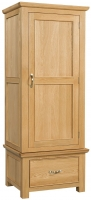 Devonshire Siena Oak 1 Door 1 Drawer Wardrobe
