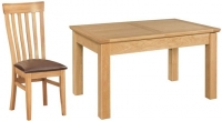 Devonshire Siena Oak Butterfly Extending Dining Table and 4 Toulouse Chair
