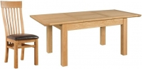Devonshire Siena Oak Rectangular Butterfly Extending Dining Set with 6 Toulouse Chair - 140cm-200cm