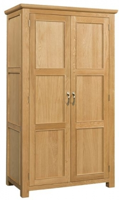 Devonshire Siena Oak Wardrobe - Double