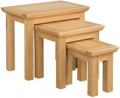 Devonshire Siena Oak Nest of Tables