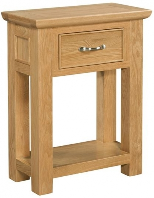Devonshire Siena Oak Console Table - Small 1 Drawer