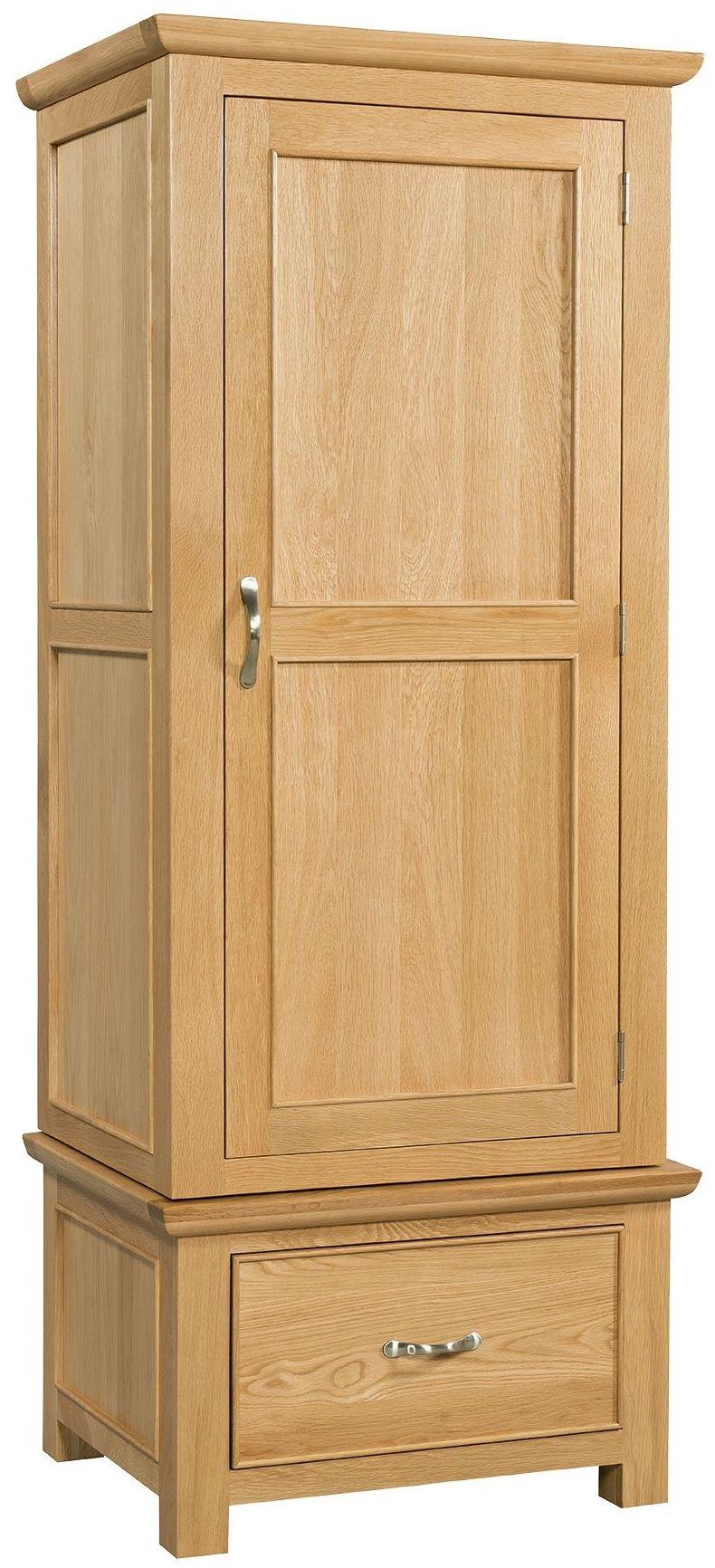Devonshire Siena Oak 1 Door 1 Drawer Single Wardrobe