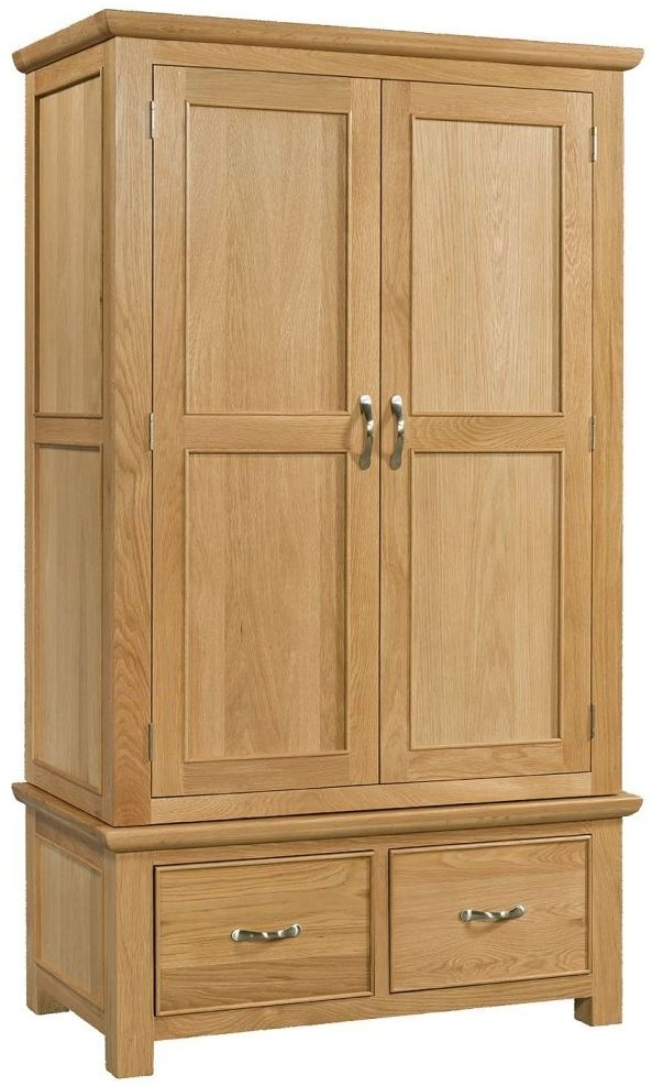 Devonshire Siena Oak 2 Door 2 Drawer Double Wardrobe